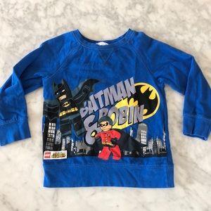 EUC LITTLE BOY BLUE LEGO BATMAN SWEATER SIZE 4-6